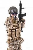 pic of glock  - Soldier in uniform - JPG