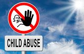 stock photo of neglect  - stop child abuse prevention from domestic violence and neglection end abusing children  - JPG