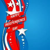 image of patriot  - Patriotic background with stars for advertising - JPG