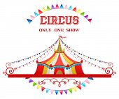 picture of stratus  - Circus tent isolated on white background for advertising - JPG