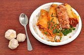 stock photo of nuong  - Vietnamese Vermicelli with grilled pork or Bun Thit Nuong - JPG