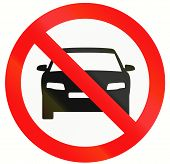 picture of motor vehicles  - Indonesia sign prohibiting thoroughfare for all motor vehicles - JPG