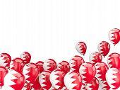 foto of bahrain  - Flying balloons with flag of Bahrain isolated on white - JPG