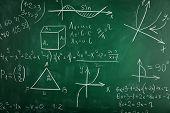 image of math  - Math formulas on blackboard background - JPG