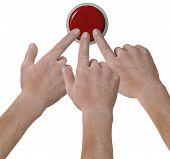 Hands Click Fingers Push Button Icon