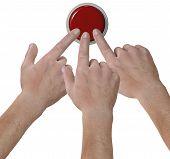 Las manos en los dedos el icono de botón