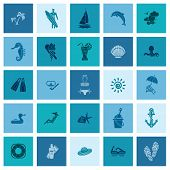 picture of sailfish  - Summer and Beach Simple Flat Icons - JPG