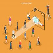 pic of employee  - Employee search flat isometric vector concept - JPG