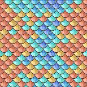 picture of fish  - Seamless colorful polygonal river fish scales - JPG
