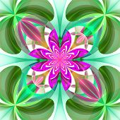 picture of symmetrical  - Symmetrical pattern of the flower petals - JPG