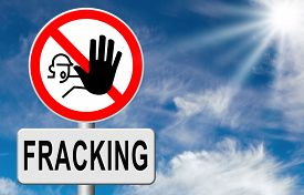 stock photo of bans  - stop fracking ban shale gas and hydraulic or hydrofracking - JPG