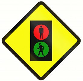 pic of traffic signal  - Indonesian road warning sign - JPG