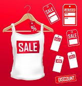 vector clothes labels  sale set