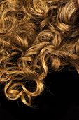 pic of black curly hair  - Curly hair on black - JPG