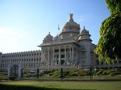 foto of vidhana soudha  - A panoramic view of the famous Vidhana Soudha  - JPG