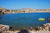 Pondamos praia, ilha de Halki