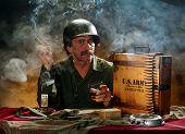 Militärische Portrait