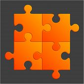 Orange puzzle vector illustration.  Eps 10.