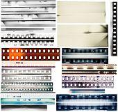 Projeto conjunto de elementos, bordas do filme.