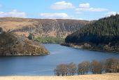 Penygarreg Reservoir In The Elan Valley, Wales.