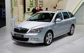 PARIS, FRANCE - OCTOBER 02: Paris Motor Show on October 02, 2008, showing Skoda Octavia Combi, front