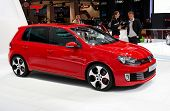 PARIS, FRANCE - OCTOBER 02: Paris Motor Show on October 02, 2008, showing Volkswagen Golf GTI, front