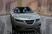 PARIS, FRANCE - OCTOBER 02: Paris Motor Show on October 02, 2008, showing Saab 9-X Air Concept, fron