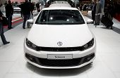 PARIS, FRANCE - OCTOBER 02: Paris Motor Show on October 02, 2008, showing Volkswagen Scirocco, front