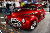 HELSINKI, FINLAND - OCTOBER 3: X-Treme Car Show, showing 1941 Chevrolet Coupe Justiina on October 3,