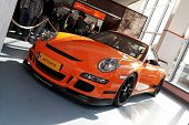 HELSINKI, FINLAND - OCTOBER 3: X-Treme Car Show, showing 2009 Porsche 911 GT3 RS on October 3, 2009