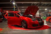 HELSINKI, FINLAND - OCTOBER 3: X-Treme Car Show, showing tuned 2000 Volkswagen Golf GTI on October 3