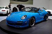 PARIS, FRANCE - SEPTEMBER 30: Porsche 911 Speedster at Paris Motor Show on September 30, 2010 in Paris