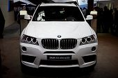 PARIS, FRANCE - SEPTEMBER 30: Paris Motor Show on September 30, 2010, showing BMW X3, front view in