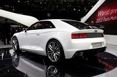 PARIS, FRANCE - SEPTEMBER 30: Paris Motor Show on September 30, 2010, showing Audi quattro concept, rear view