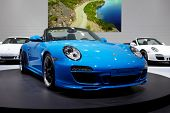 PARIS, FRANCE - SEPTEMBER 30: Paris Motor Show on September 30, 2010 in Paris, showing Porsche 911 S