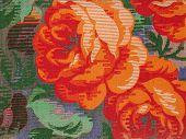 Patrón de la tela: Rosas