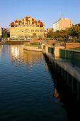 Reflexión del paisaje urbano de Waterfront