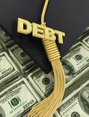 3D College Education Debt Graduation Concept