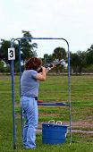 Female Skeet Trap Shooter