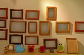 The Photo Frames On Wall