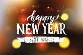 Lettering happy New Year For Christmas/new Year Greeting Card, Invitation Template. poster