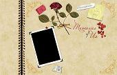 Scrapbook romántico con una capacidad de copia