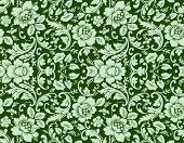An antique floral background image - tileable and vector
