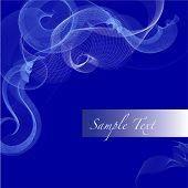 Vektor-Bild abstrakt blau wirbelt