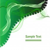 Vector abstract green swirls