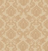 Baroque wallpaper background image, vector