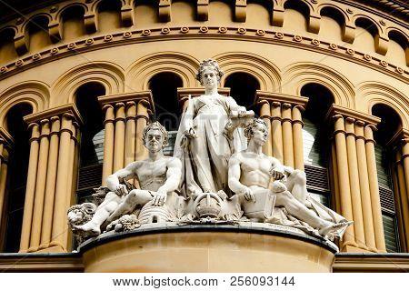 Queen Victoria Building Statues Sydney
