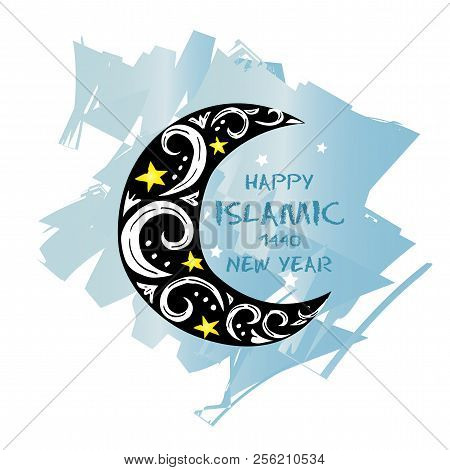 poster of happy muharram1440 hijri islamic new year greeting card
