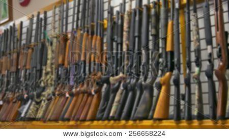 Blurred Photo Of Gun Rifle