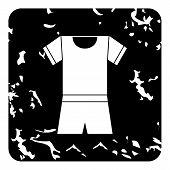 Sport Uniform Icon. Grunge Illustration Of Sport Uniform Icon For Web poster